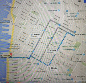 My route to the Whitney Museum